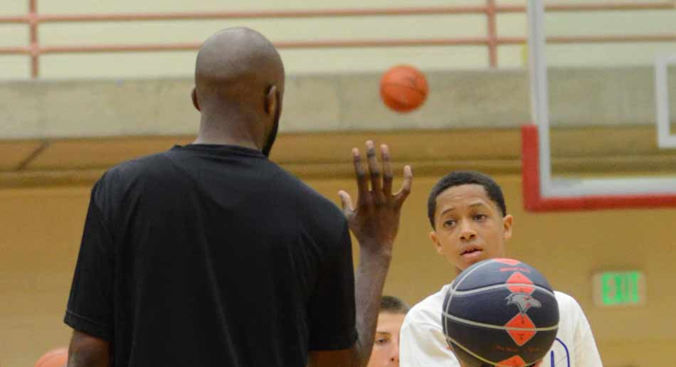 coaching basketball at NBC Camps