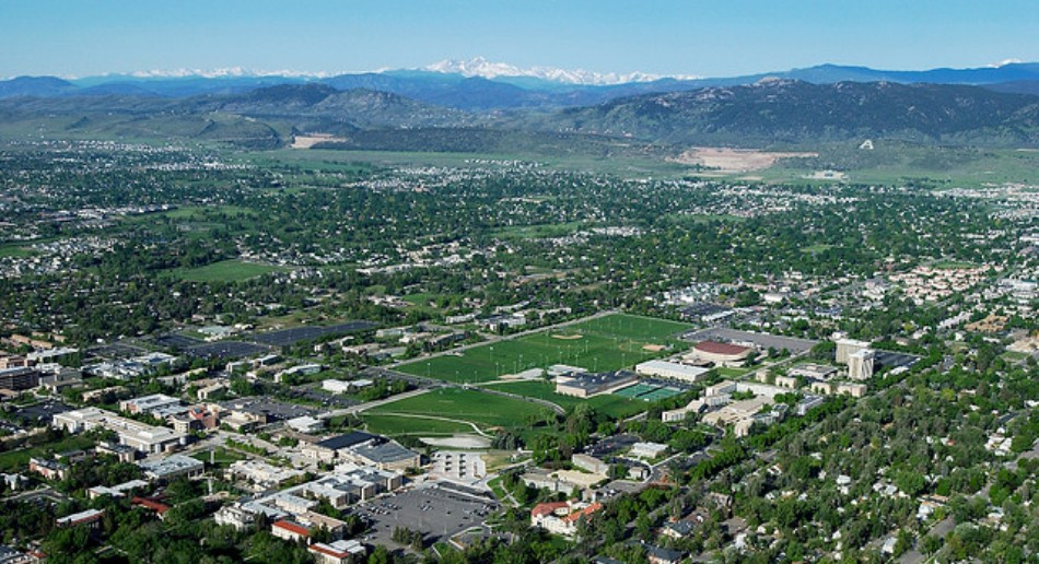 Map of Colorado State University Fort Collins Fort Collins Colorado State University
