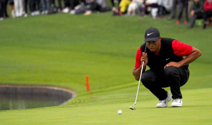 Golf Tip Tiger Woods Pre Shot Routine Golf Tips