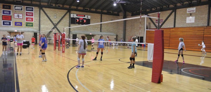 Nike Volleyball Camp At Lake Forest College